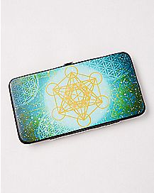 Flower Of Life Hinge Wallet