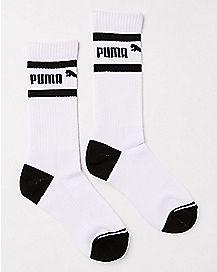 Striped Puma Crew Socks