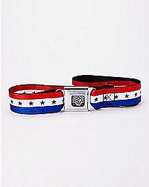 Stars and Stripes Seatbelt Belt