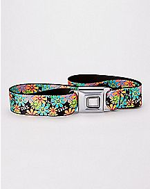 Floral Fuck Seatbelt Belt