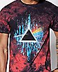 Dark Side Of The Moon Tie Dye Pink Floyd T Shirt
