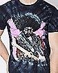 Tie Dye Jimi Hendrix T Shirt