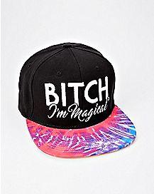 Tie Dye Bitch I'm Magical Snapback Hat