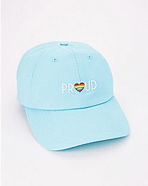 Rainbow Heart Proud Dad Hat