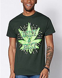 Pot Leaf Wake and Bake T Shirt