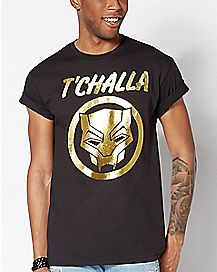 Foil T'Challa T Shirt - Black Panther