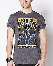 Poster Black Panther T Shirt - Marvel