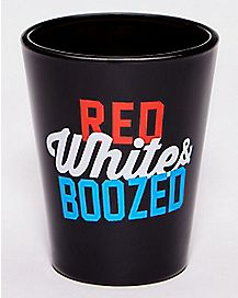 Red White and Boozed Shot Glass - 1.5 oz.
