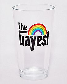 Rainbow The Gayest Pint Glass - 16 oz.