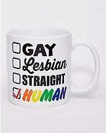 Rainbow Human Coffee Mug - 20 oz.