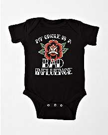 My Uncle Is A Bad Influence Baby Bodysuit