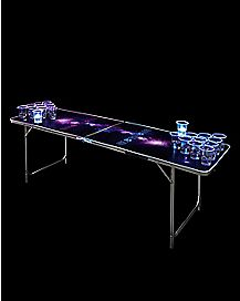 Glowing Galaxy Beer Pong Table - 6.5 Ft