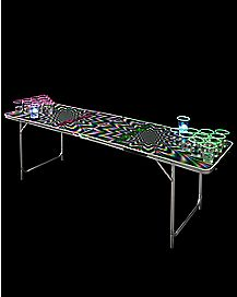 Glowing Psychedelic Beer Pong Table - 6.5 Ft.