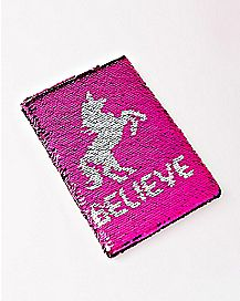 Magic Sequin Unicorn Notebook