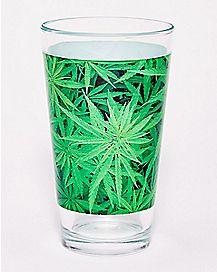 Pot Leaf Pint Glass - 16 oz.