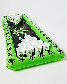 Pot Leaf Inflatable Beer Pong Set