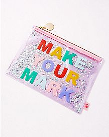 Make Your Mark Glitter Pouch