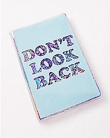 Don't Look Back Magic Glitter Journal