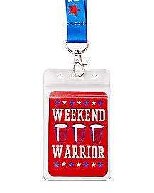 Weekend Warrior Americana Lanyard