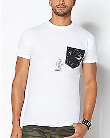 Astronaut Space Pocket T Shirt