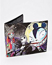 Watercolor The Nightmare Before Christmas Bifold Wallet - Disney