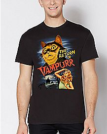 The Return Of Vampurr Cat T Shirt