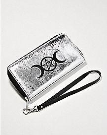 Metallic Pentagram Moon Wallet