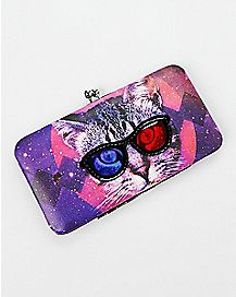 Galaxy Cat Hinge Wallet
