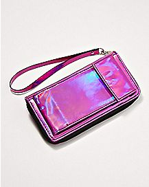 Iridescent Wallet With Phone Pocket