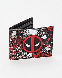 Paint Splatter Deadpool Bifold Wallet - Marvel