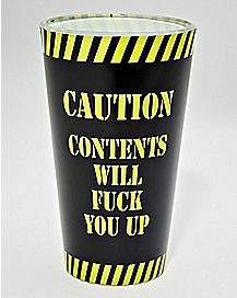 CAUTION: Contents Will Fuck You Up Pint Glass - 16 oz.