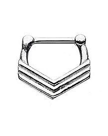 Chevron Clicker Septum Ring - 20 Gauge