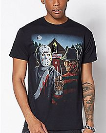 Freddy and Jason T Shirt