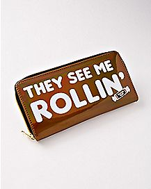 They See Me Rollin' Tootsie Roll Zipper Wallet