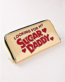 Looking For My Sugar Daddy Zipper Wallet