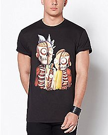Skeleton Rick and Morty T Shirt