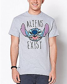 Aliens Exist Stitch T Shirt - Disney
