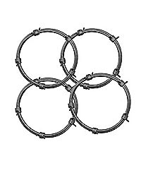 Barbed Wire Bracelets - 4 Pack