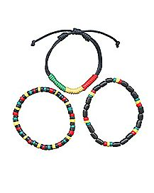 Multi-Pack Rasta Bracelets - 3 Pack