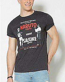Sasuke Versus Naruto T Shirt