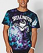 Jack Skellington Purple and Teal Tie Dye T Shirt - The Nightmare Before Christmas