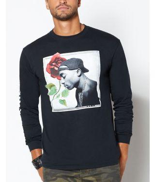 Rose Tupac T Shirt
