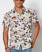 Floral Fucking Vibes Button Down Shirt