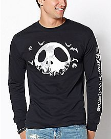Jack Skellington Long Sleeve T Shirt - The Nightmare Before Christmas