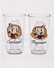 Cuphead Mugman Pint Glasses 16 oz. - 2 Pack