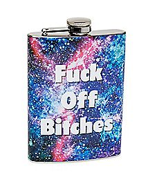 Galaxy Fuck Off Bitches Flask - 8 oz.