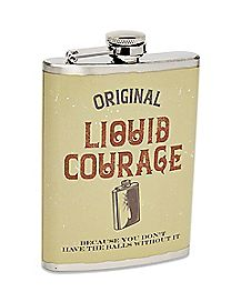 Liquid Courage Flask - 8 oz.