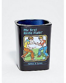 My First Knife Fight Shot Glass 2 oz. - Steven Rhodes