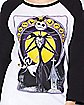 Raglan Jack Skellington T Shirt - The Nightmare Before Christmas