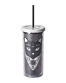 Purr Evil Cat Cup With Straw - 20 oz.